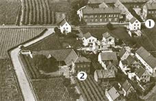 Historische Aufnahme der Weingüter Biffar und Kathrinenbild